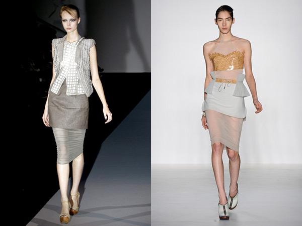 Imagem: Em Milão, Emporio Armani; no Fashion Rio, Lucas Nascimento