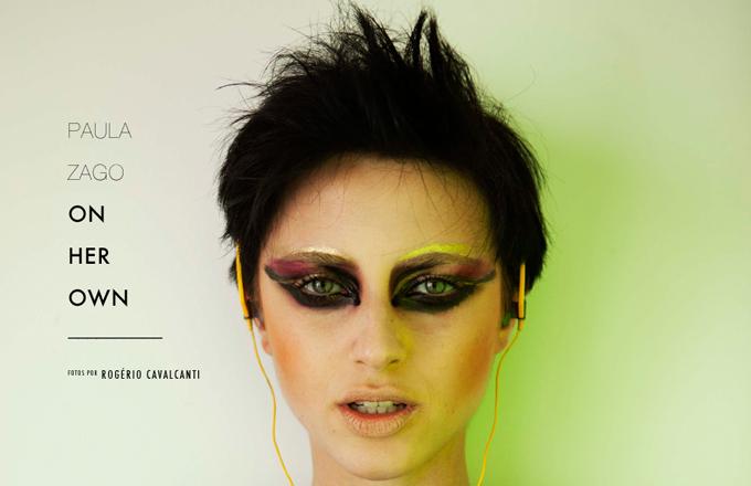 Imagem: a modelo Paula Zago em editorial de moda