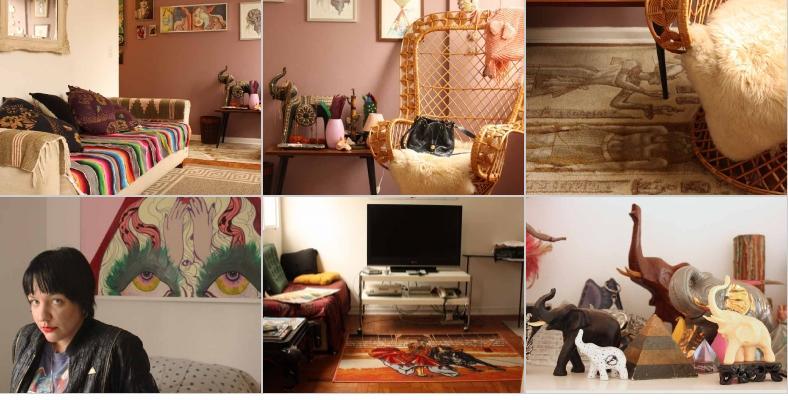 Fotos do blog Quarto&Sala da casa da estilista Fábia Bercsek