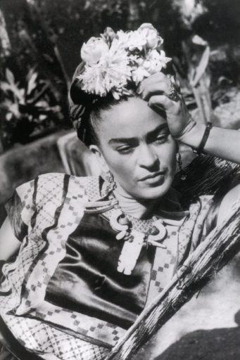 Retrato da artista Frida Kahlo em 1950