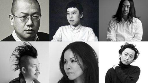 Em sentido horário, a partir do alto à esq:. Junya Watanabe, Tao Kurihara, Fumito Ganryu, Junichi Abe, Chitose Abe, Kei Ninomiya